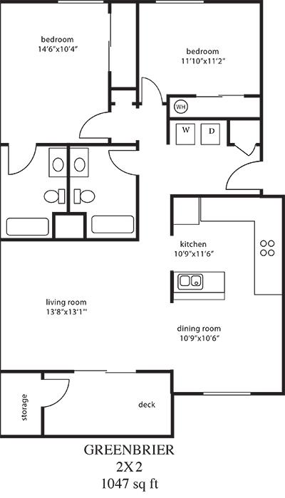 2 Bed Sm Floor Plan