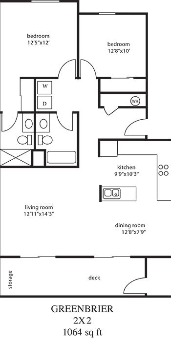 2 Bed Med Floor Plan
