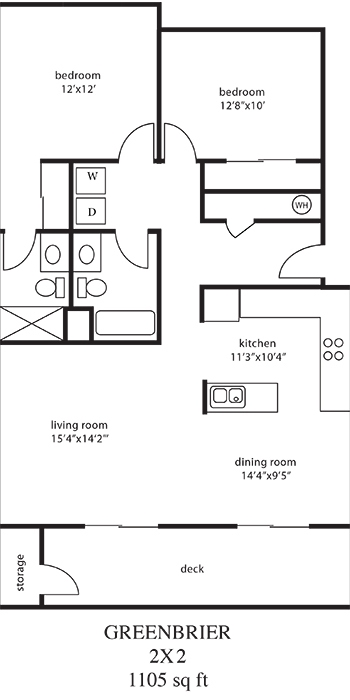 2 Bed Large Floor Plan